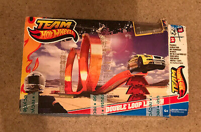 Team Hot Wheels Double Loop The Loop Launch Acceleration Track Age 4+ Cars • 2.95£