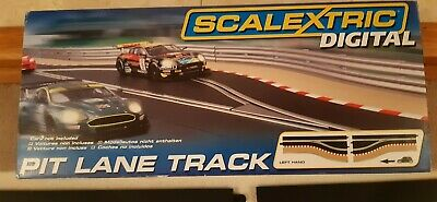Scalextric Digital C7014 Pit Lane Track Left Hand - Boxed - Excellent Condition • 15£