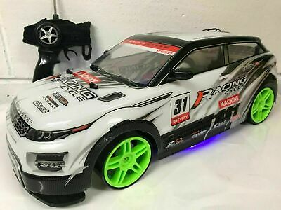 Large Range Sports 4wd Drift Rc Remote Control Car 1/10 Rechargeable 20mph Speed • 36.90£