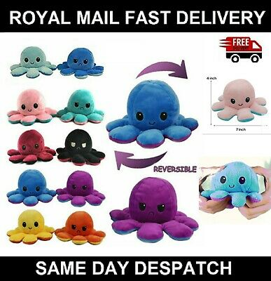 Reversible Plush Toys Double-sided Stuffed Toy Happy Sad Emotions Gift For Kids • 7.90£