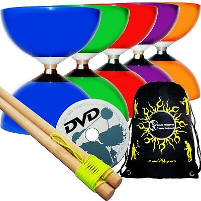 Juggle Dream CAROUSEL Diabolo Ball Bearing, Wooden Diabolo Sticks, String + D... • 28.18£