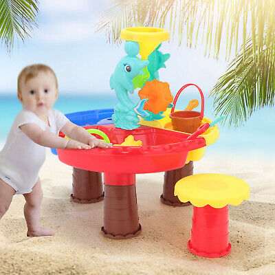 Sand And Water Table Sandpit Indoor Outdoor Beach Kids Children Play Toy Set UK • 9.99£