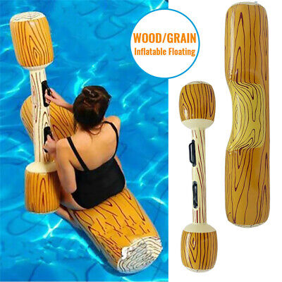 Adult Children Wood Grain For Games Swimming Pool Float Log Rafts Water Sports • 35.74£