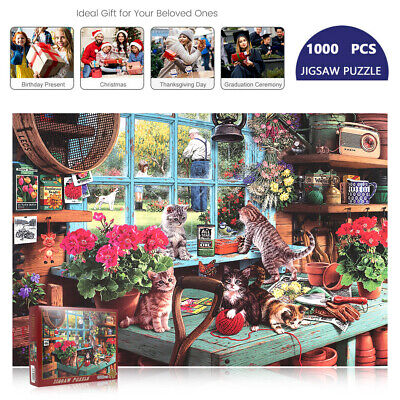 1000Pieces Cute Cats Adult Kids Puzzles Educational Toy Decoration Jigsaw Puzzle • 8.49£