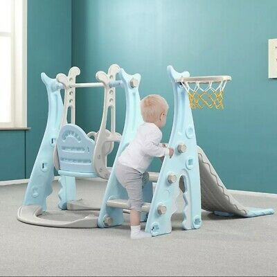 Toddler Climber Slide Swing Play Set Indoor/Outdoor Kids Playground Toy • 60£