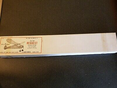 Micro Models '1941' Request 2/3 Scale 30  Span Balsa F102 Complete - UK Seller • 45£