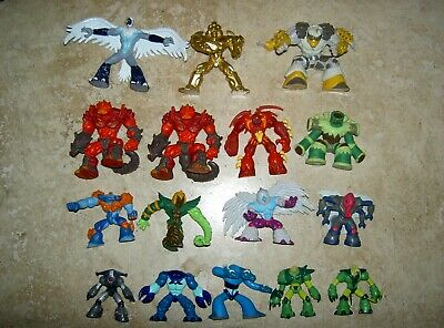 Gormiti Game Figures Toys X 16 In Total 1.5-2.5 Inches 4-7cm Tall USED • 16.99£