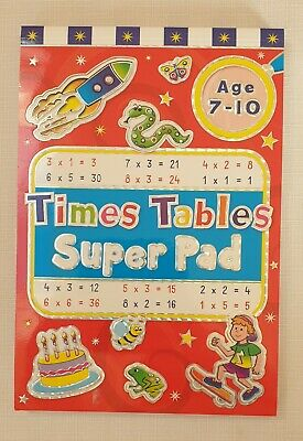 Brown Watson Maths Times Tables Super Pad Age 7-10 Years • 4£