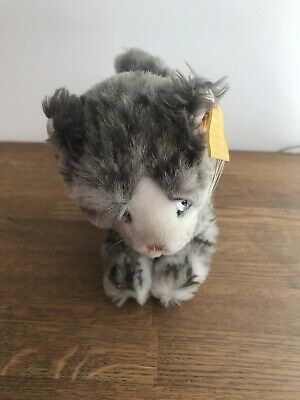Steiff Vintage Cat With Button And Label To Ear • 16.90£