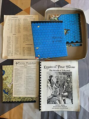 Empire Of The Petal Throne - The World Of Tekumel -1975 With Maps - RPG Fantasy • 36.99£