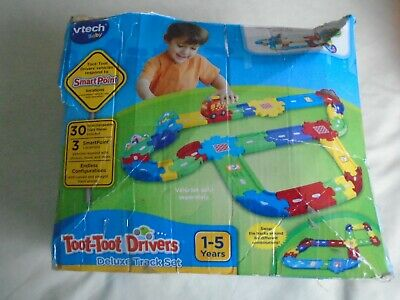 V-Tech Toot-Toot Drivers Deluxe Track Set - Complete In Box • 10.75£