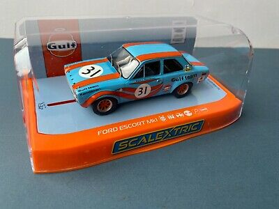 NEW SCALEXTRIC C4013 Ford Escort Mk1 Gulf Edition Never Removed From Box • 41£