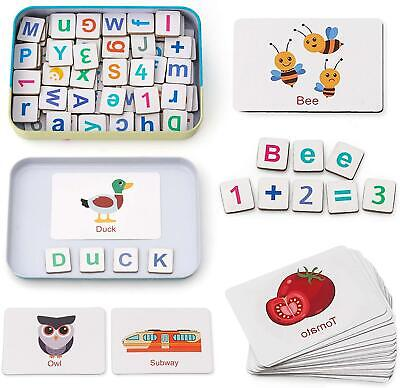 Coogam Wooden Magnetic Letters And Numbers Toys, Fridge Magnets ABC Colorful • 14.64£