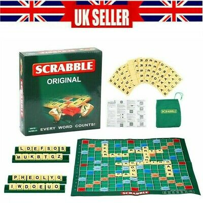 Original Scrabble Board Game Family Kids Adults Educational Toys Puzzle Game UK • 7.69£