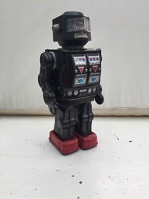 Vintage 1960s Horikawa Rotate-o-matic Astronaut Robot Battery Operated Tin Toy • 200£