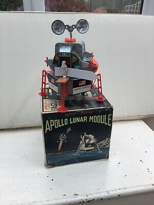 Vintage 1960s Battery Operated Apollo-11  Lunar Moduel Tin Toy • 300£