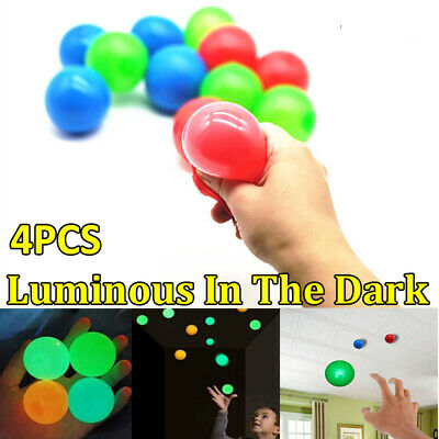 4PCS Sticky Wall Balls For Ceiling Stress Relief Globbles Squishy Kids Xmas Toy • 5.55£
