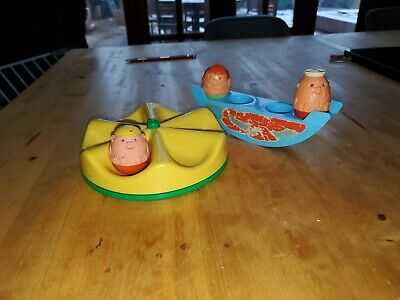 Weebles Balance Set From 1970 Seesaw Round About And 3 Figures  • 5£