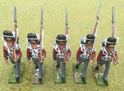 Alexanders Toy Soldiers Napoleonic British Fusiliers. 5 X Painted Metal Figures • 40£