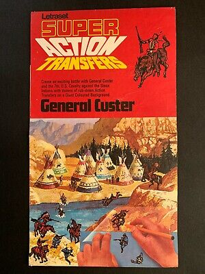 Letraset Super Action Transfers - General Custer - 1969 • 8.50£