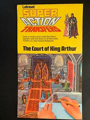 Letraset Super Action Transfers - The Court Of King Arthur 1969 • 9.50£