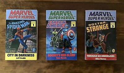 Marvel SuperHeroes Gamebooks - Puffin UK Version Role Playing Books 1 - 3 • 15£