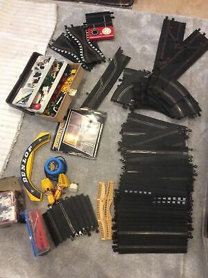 Original Scalextric Track & Cars & Power Pack • 41£