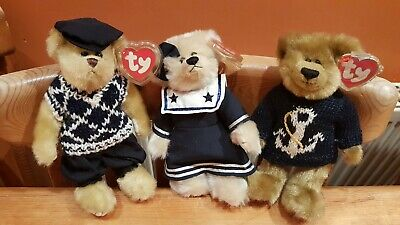TY Attic Treasures Collection: Mulligan The Golf Bear, Salty The Sailor & Breezy • 18£