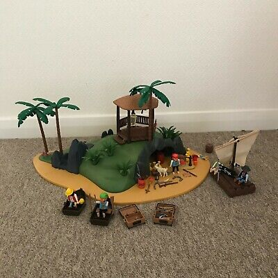 Playmobil VINTAGE Pirates Secret Island 3799, 1991 RARE Plus Extras  • 75£