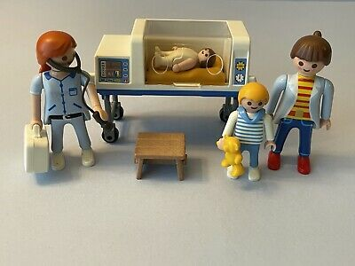 Playmobil 4225 Newborn Baby Incubator Big Brother Meets Little Sister Hospital • 12.95£
