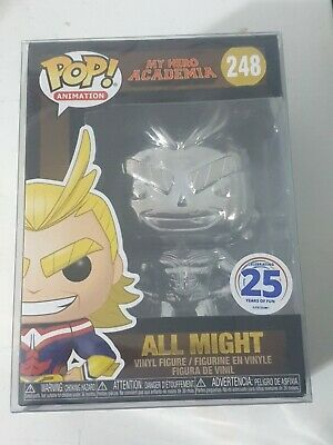 Funko Pop! My Hero Academia All Might Silver Chrome Funimation Exclusive #248 • 40£