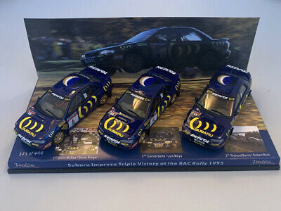 1/43rd SUBARU IMPREZA 555 McRAE SAINZ BURNS 1st 2nd 3rd 1995 RAC RALLY • 76£