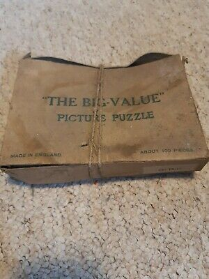 The Big Value Picture Vintage Old Jigsaw Puzzle On Duty 100 Pieces  • 4.10£