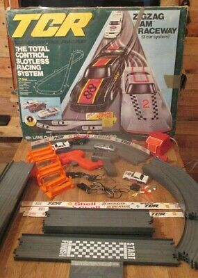 Vintage 1979 Ideal TCR Total Control Racing ZigZag Jam Raceway 3 Cars- Working  • 16£