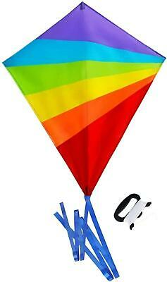 Sun Kites Diamond Kite For Children And Adults - Bright Rainbow Colours - Great • 13.33£