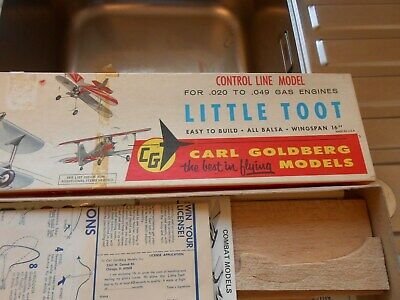 LITTLE TOOT Carl Goldberg Model Aircraft For Control Line Flying • 20£