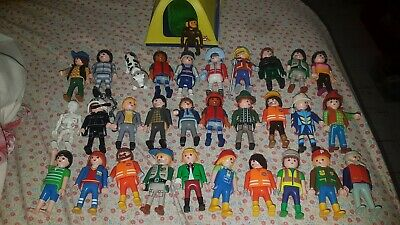 Playmobil People 31 Figures Workers And Tent • 30£