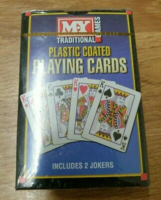 Traditional Playing Cards Plastic Coated M.Y Card Game Poker 6/6 • 1.37£