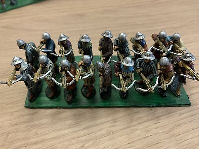 18 Late Medieval, Wars Of The Roses, Hundred Years War, Crossbows Painted Metal • 39.99£