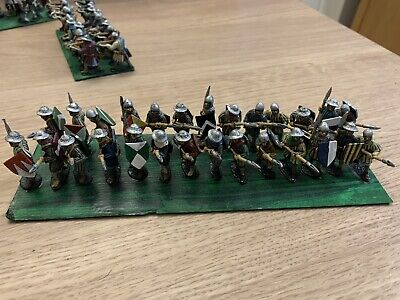 27 Late Medieval, Wars Of The Roses, Hundred Years War, Spearmen Painted Metal • 49.99£
