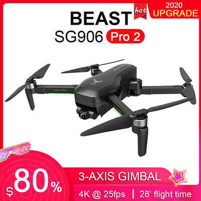 ZLL Beast SG906 PRO 2 GPS RC Drone With Camera 4K 3-axis Gimbal Brushless T9Q2 • 219£