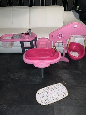 Smoby Baby Nurse Changing Station Care Station Pink Bath Bed Highchair Hangers • 50£