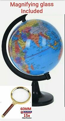 30cm Plastic Rotating World Globe Map Atlas Kids Childrens Bedroom Decoration • 18.99£