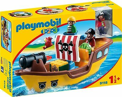 Playmobil 9118 1.2.3 Pirate Ship, For Children Ages 18 Months + • 19.99£
