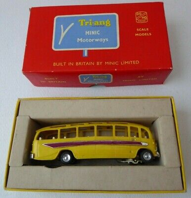 Triang Minic Motorways M1544 Coach Model In RARE Yellow Colour 1960s VG Boxed!!! • 79.99£