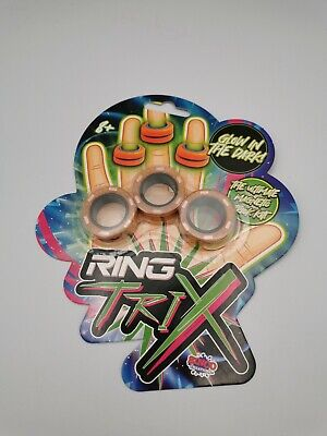 Ring Trix Magnetic Fidget Toy Glow In The Dark Calm De Stress Orange  • 5.49£