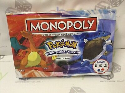 New Partly Sealed Pokemon Monopoly Board Game Rare Kanto Edition • 19.95£