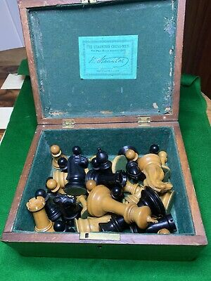 Antique Club Size (4 Inch Kings) Jaques Chess Set • 921£
