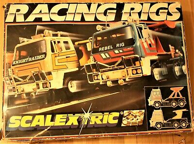 Classic Scalextric Set C674 RACING RIGS With Trucks Knight Raider V Rebel Rig • 59£