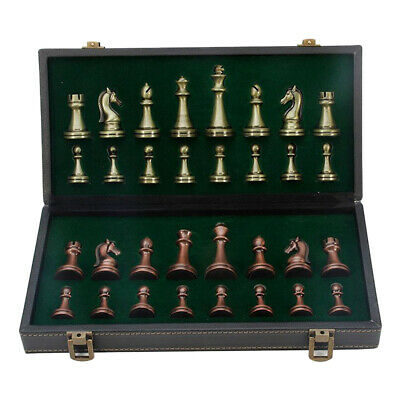 Portable Leather Chess Set Folding Chessboard Chess Set For Family Activity • 82.88£